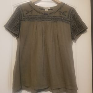 Lucky Brand ☘ olive green top